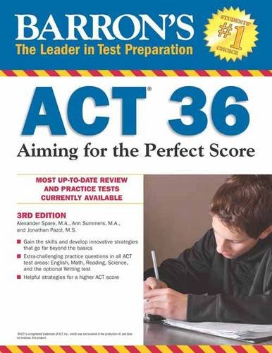 9781438006253: Barron's ACT 36, 3rd Edition: Aiming for the Perfect Score