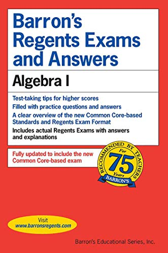 9781438006659: Regents Exams and Answers: Algebra I (Barron's Regents Exams and Answers)