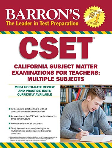 9781438007472: Barron's CSET, 4th Edition: California Subject Matter Exams for Teachers: Multiple Subjects