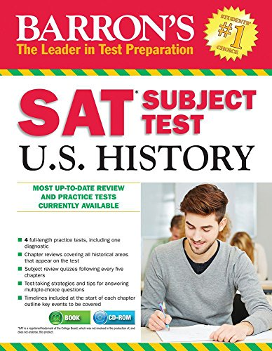 9781438007519: Barron's SAT Subject Test: U.S. History 3rd Edition