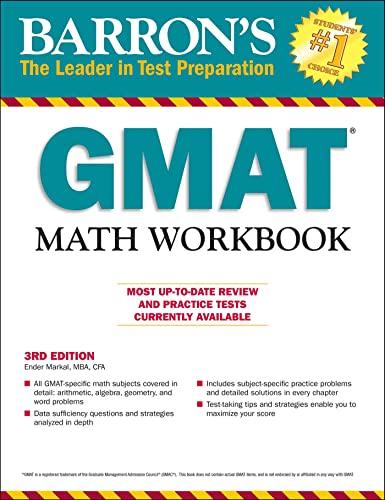 9781438007991: GMAT Math Workbook (Barron's Test Prep)