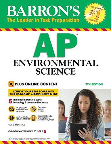 9781438008653: Barron's AP Environmental Science, 7th Edition: with Bonus Online Tests