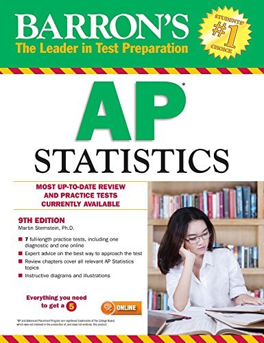 9781438009049: Barron's AP Statistics, 9th Edition