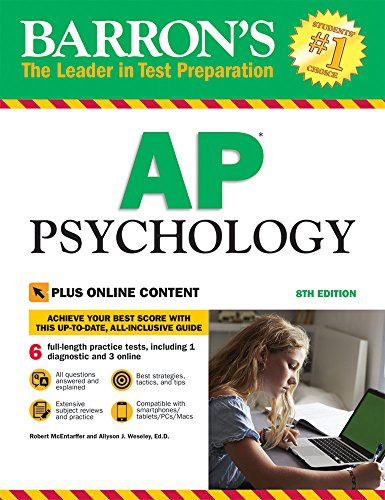9781438010694: Barron's AP Psychology, 8th Edition: with Bonus Online Tests