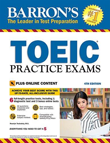 9781438011820: Barron's TOEIC Practice Exams: With Downloadable Audio