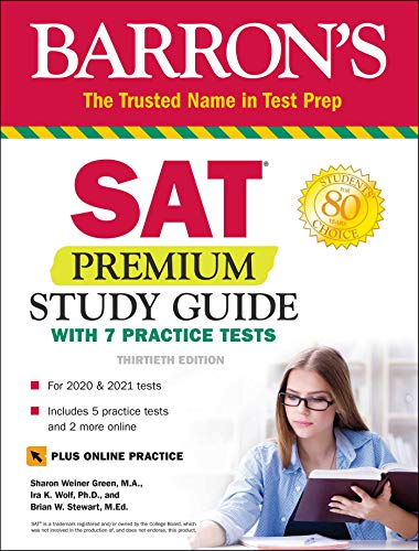 9781438012223: SAT Premium Study Guide with 7 Practice Tests (Barron's Test Prep)