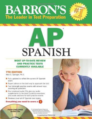 9781438070292: Barron's AP Spanish with Audio CDs