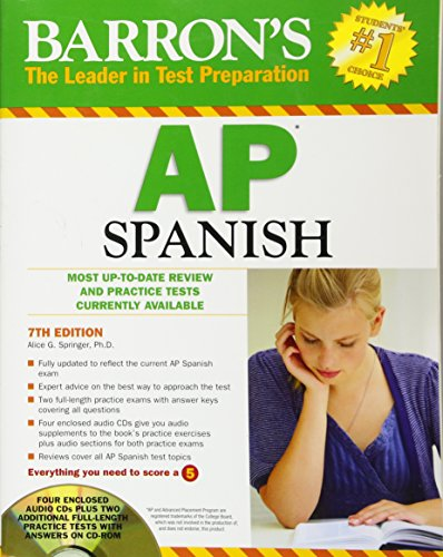 9781438070308: Barron's AP Spanish with Audio CDs and CD-ROM