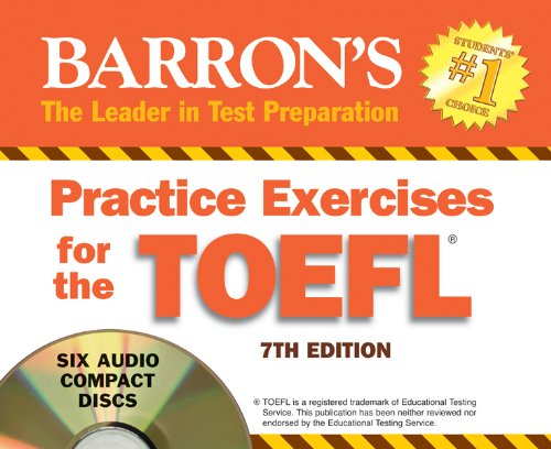 9781438070322: Practice Exercises for the TOEFL: 7th Edition