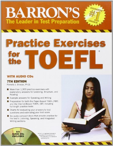 9781438070339: Barron's Practice Exercises for the TOEFL: Test of English as a Foreign Language