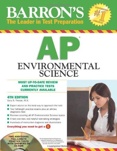 Barron's AP Environmental Science with CD-ROM (Barron's: Thorpe, Gary