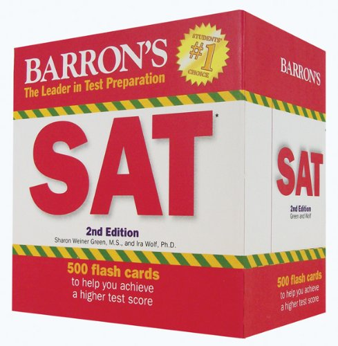 9781438070384: Barron's SAT Flash Cards, 2nd Edition (Leader in Test Preparation)