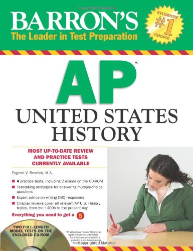 9781438071152: Barron's AP United States History with CD-ROM (Barron's AP United States History (W/CD))