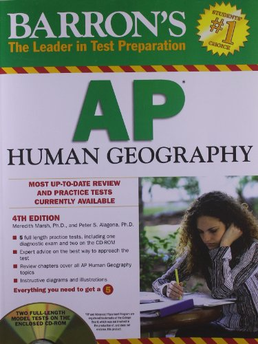 9781438071220: Barron's AP Human Geography with CD-ROM, 4th Edition (Barron's Study Guides)