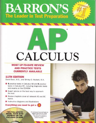 9781438071275: Barron's AP Calculus with CD-ROM, 11th Edition (Barron's Study Guides)