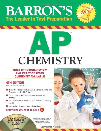 9781438071282: Barron's AP Chemistry with CD-ROM, 6th Edition (Barron's AP Chemistry (W/CD))