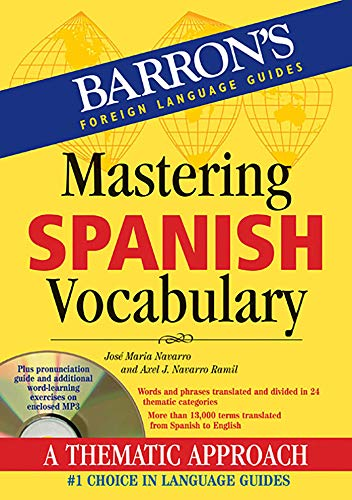 9781438071558: Mastering Spanish Vocabulary with Audio MP3: A Thematic Approach (Mastering Vocabulary) (Barron's Vocabulary)