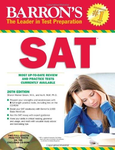 9781438071886: Barron's SAT with CD-ROM, 26th Edition (Barron's SAT (W/CD))
