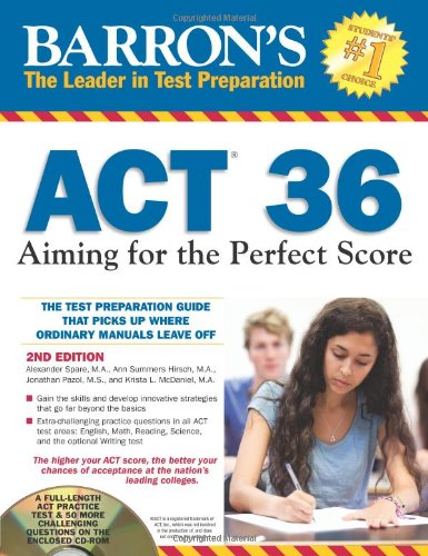 9781438072173: Act 36: Aiming for the Perfect Score (Barron's Act 36)
