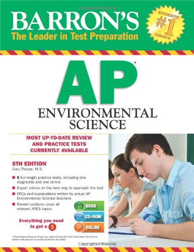 9781438072609: Barron's AP Environmental Science with CD-ROM, 5th Edition (Barron's AP Environmental Science (W/CD))