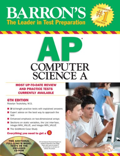 9781438072777: Barron's AP Computer Science A with CD-ROM, 6th Edition