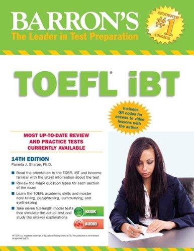 9781438072821: Barron's TOEFL iBT with Audio Compact Discs, 14th Edition (Barron's Toefl Ibt (Book & CD-Rom))