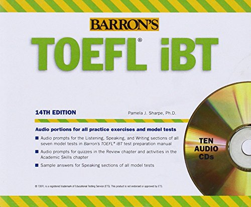 9781438072838: Barron's TOEFL iBT Audio Compact Disc Package, 14th Edition (Barron's How to Prepare for the TOEFL (Ibt))