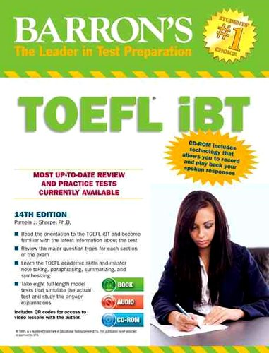 9781438072845: Barron's TOEFL iBT with Audio CDs and CD-ROM, 14th Edition
