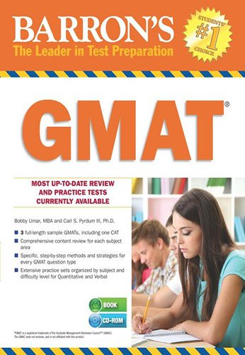 9781438073347: Barron's GMAT with CD Rom