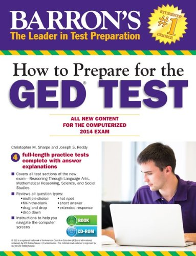 9781438073699: How to Prepare for the GED® Test (with CD-ROM): All New Content for the Computerized 2014 Exam (Barron's GED)