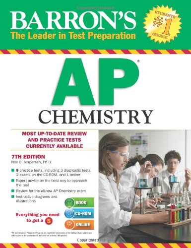 9781438073828: Barron's AP Chemistry with CD-ROM, 7th Edition