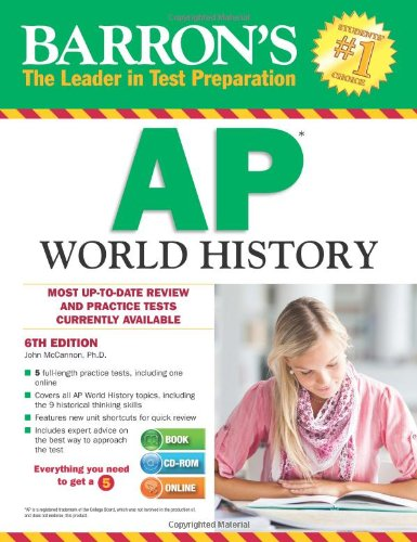 9781438073835: Barron's AP World History with CD-ROM, 6th Edition