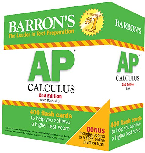 9781438074009: Barron's AP Calculus Flash Cards, 2nd Edition