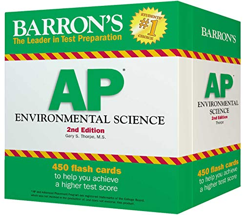 9781438074030: Barron's AP Environmental Science Flash Cards, 2nd Edition