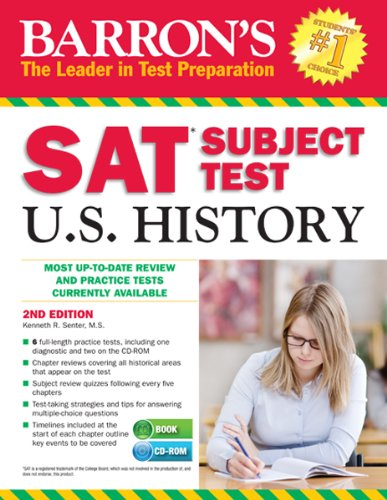 9781438074054: Barron's SAT Subject Test in U.S. History with CD-ROM, 2nd Edition