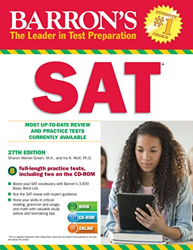 9781438074481: Barrons SAT with CD study guide, 27th Edition (Book & CD Rom)