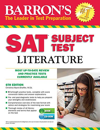 9781438074504: Barron's SAT Subject Test Literature with CD-ROM, 6th Edition