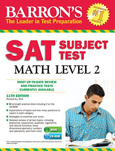 9781438074535: Barron's SAT Subject Test Math Level 2 with CD-ROM, 11th Edition