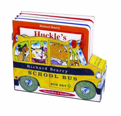 9781438074832: Richard Scarry School Bus Box Set