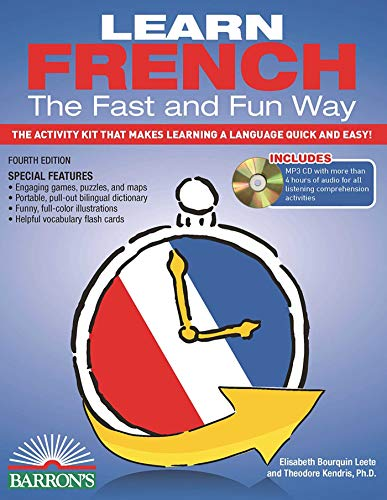 9781438074948: Learn French the Fast and Fun Way with MP3 CD: The Activity Kit That Makes Learning a Language Quick and Easy! (Fast and Fun Way Series)