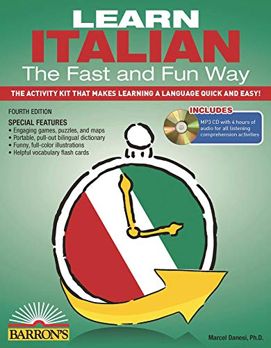 9781438074962: Learn Italian the Fast and Fun Way with MP3 CD [Lingua inglese]