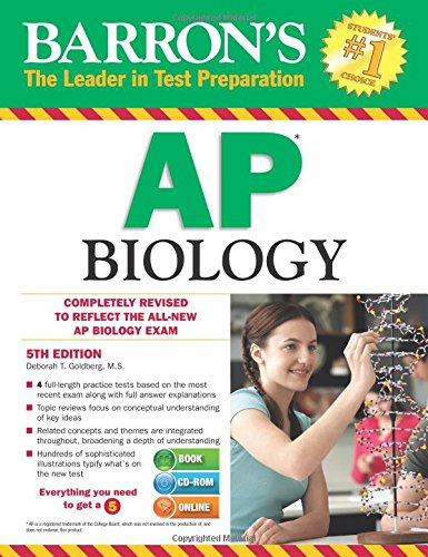 9781438075181: Barron's AP Biology with CD-ROM, 5th Edition