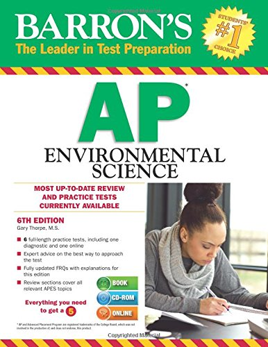 9781438075341: Barron's AP Environmental Science with CD-ROM, 6th Edition