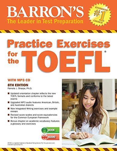 9781438075471: Barron's Practice Exercises for the TOEFL