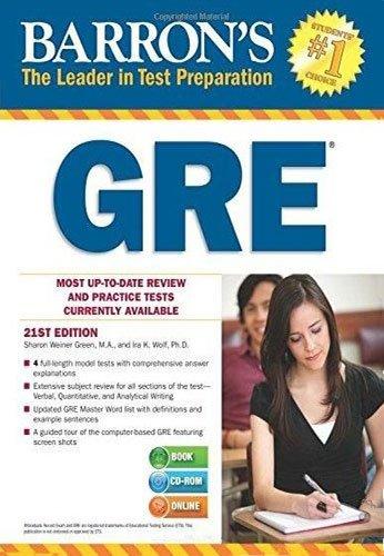 GRE (Barron's Gre): Wolf, Ira; Green, Sharon