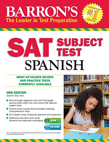 Barron's SAT Subject Test Spanish, 4th Edition: With MP3 CD: Diaz M. a. , Jose