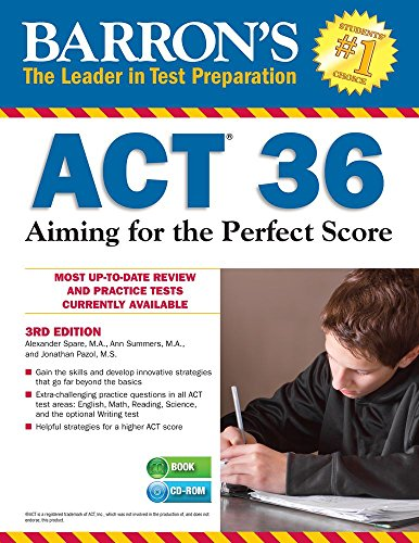 9781438075679: Barron's ACT 36 with CD-ROM, 3rd Edition: Aiming for the Perfect Score