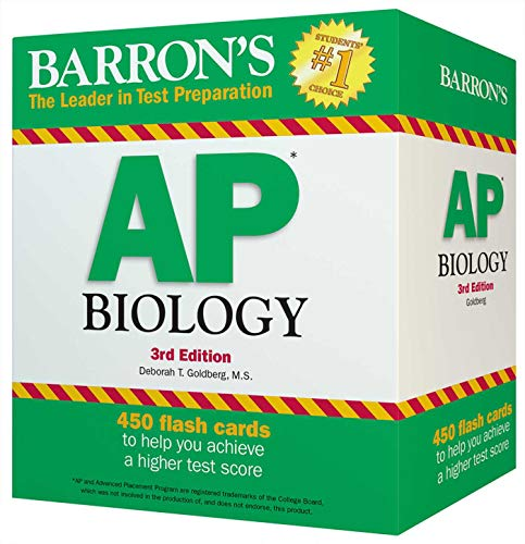 9781438076119: Barron's AP Biology Flash Cards, 3rd Edition