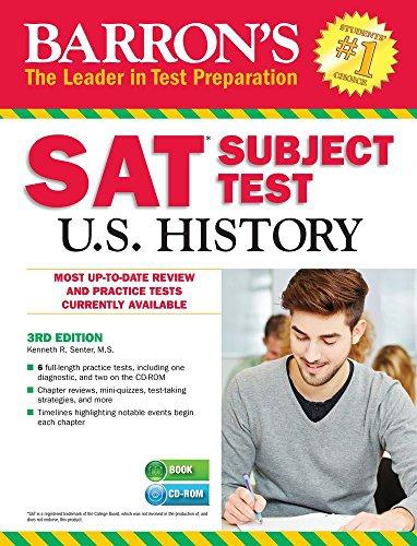 9781438076133: Barron's SAT Subject Test: U.S. History w/CD-ROM, 3rd Edition