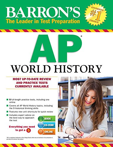 9781438076294: Barron's AP World History with CD-ROM, 7th Edition
